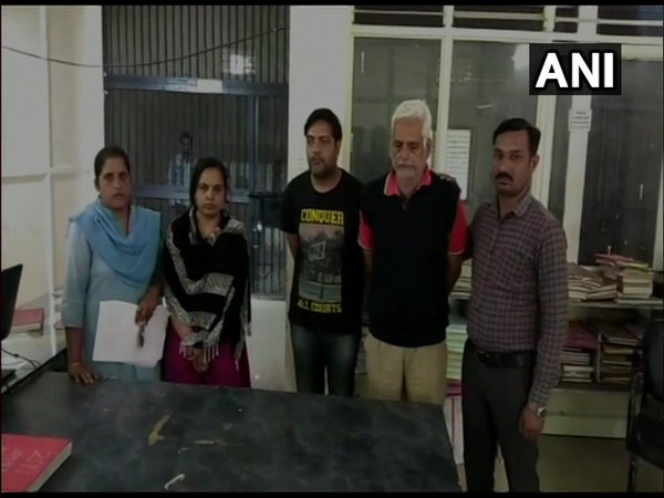Accused Amitesh Pateria with his sister and father (Photo/ANI)
