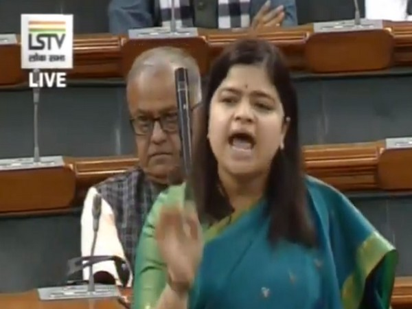 BJP MP Poonam Mahajan speaking in Lok Sabha on Tuesday (Photo/ANI)