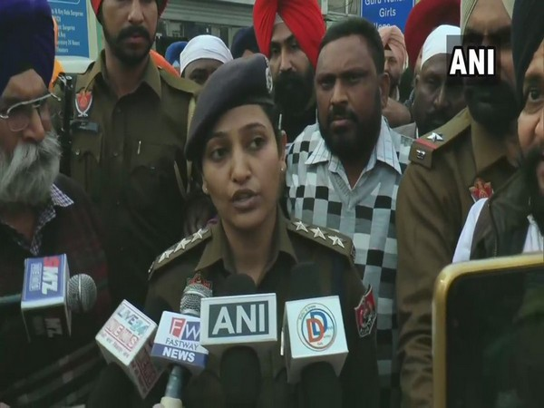 ACP Rupinder Kaur Bhatti speaking to media persons on Wednesday in Ludhiana. Photo/ANI