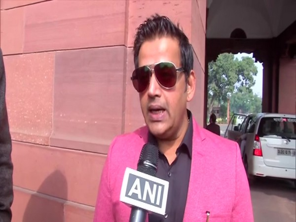 BJP MP Ravi Kishan speaking to ANI on Wednesday in New Delhi. Photo/ANI