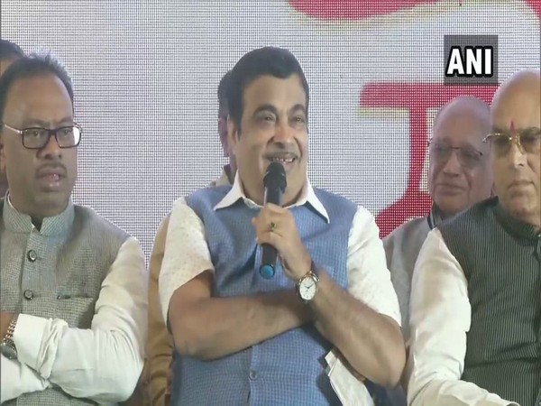 Union Minister Nitin Gadkari addressing an event in Nagpur on Saturday (Photo/ANI)