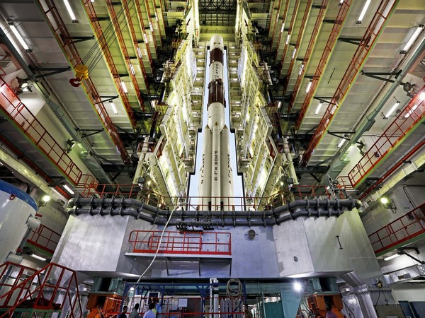 ISRO tweeted a picture of PSLV-C47 in the vehicle assembly building on Monday