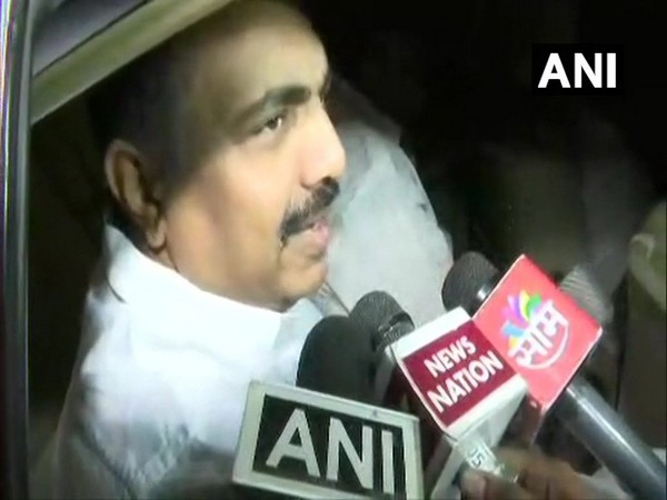 NCP leader Jayant Patil speaking to reporters in Mumbai on Tuesday. Photo/ANI
