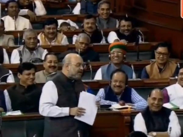Union Home Minister Amit Shah during his address in the Lok Sabha on Wednesday.