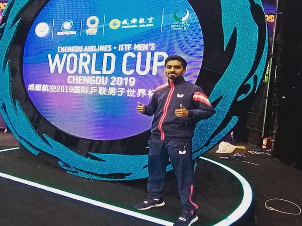Paddler Sathiyan Gnanasekaran (Photo/ Sathiyan Gnanasekaran Twitter)