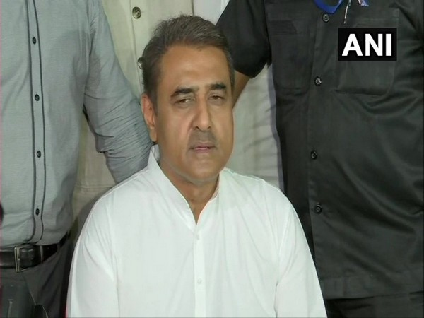NCP leader Praful Patel speaking to reporters in Mumbai on Wednesday. Photo/ANI