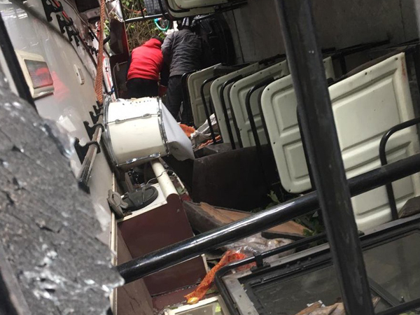 A private bus rolled down a deep gorge in Maryog, Sirmaur district on Thursday.