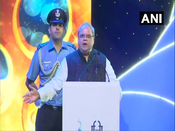 Goa Governor SP Malik speaking at the closing ceremony of the 50th edition of International Film Festival of India in Panaji on Thursday. (Photo/ANI)