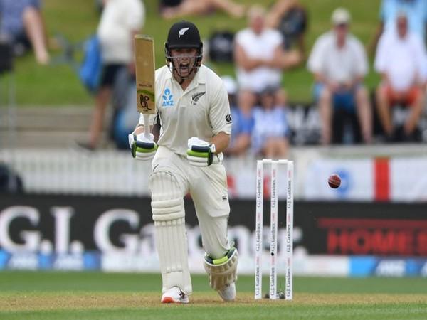 New Zealand batsman Tom Latham in action against England (Photo/ ICC Twitter)