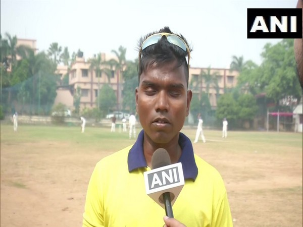 Kalia Pradhan, native of Ganjam district of Odisha, has been selected in India's Blind Cricket team for the bilateral series against Nepal at Kanpur and Dehradun. (Photo/ANI)