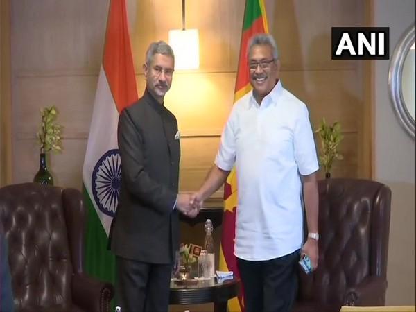 External Affairs Minister S Jaishankar with Sri Lanka President Gotabaya Rajapaksa