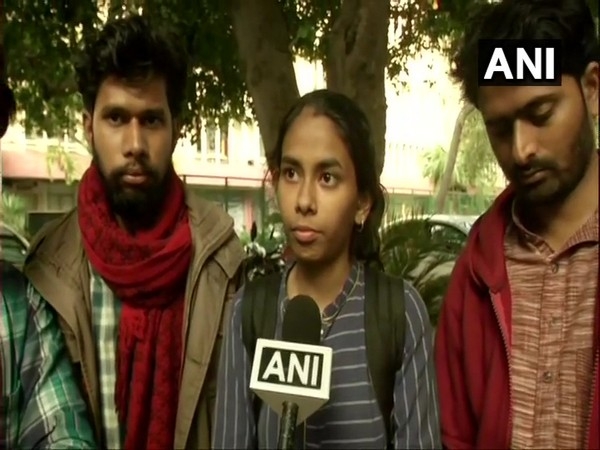 JNUSU President Aishe Ghosh talking to ANI on Friday in New Delhi. Photo/ANI