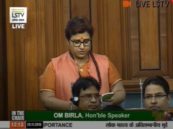 BJP MP Pragya Thakur (Photo/LSTV)