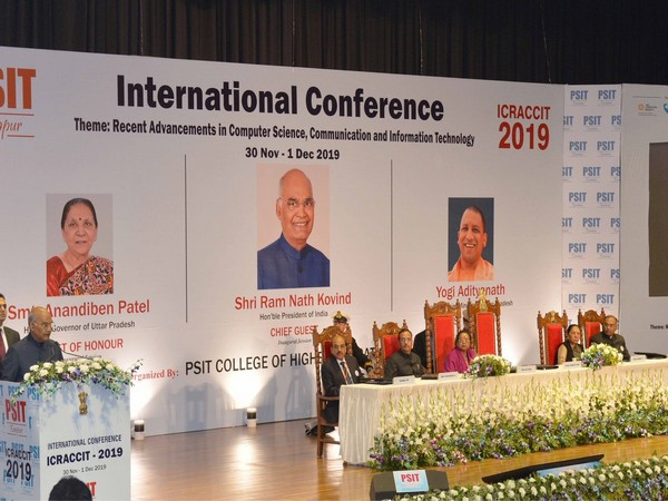 President Kovind during a conference in PSIT College in Kanpur on Saturday. Photo/ANI
