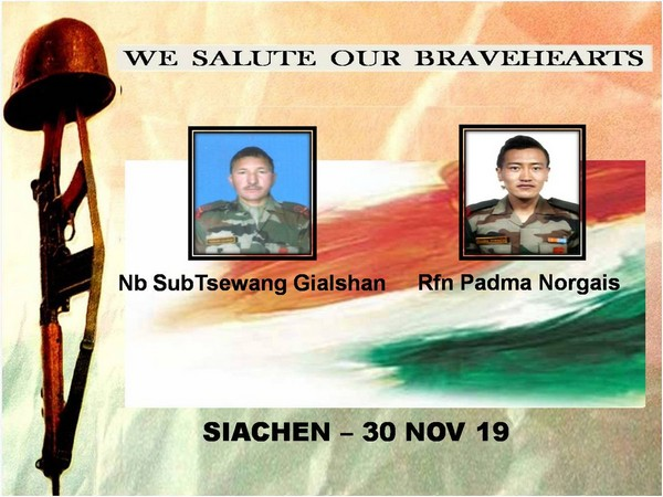 Army's Northern Command in a tweet paid tributes to the two soldiers who lost their lives (Photo tweeted by Northern Command)