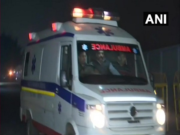 Unnao rape survivor being brought to Safdarjung Hospital in New Delhi on Thursday night. Photo/ANI