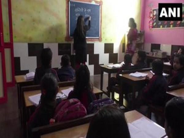 Children being taught in Haryana's Rohtak (Photo/ANI)