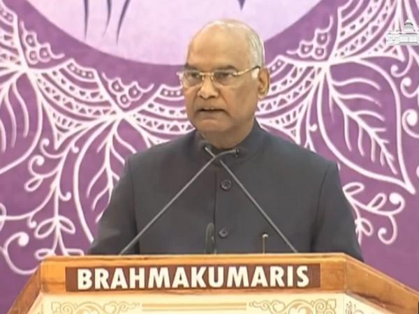 President Ram Nath Kovind addressing an event in Rajasthan on Friday. Photo/ANI