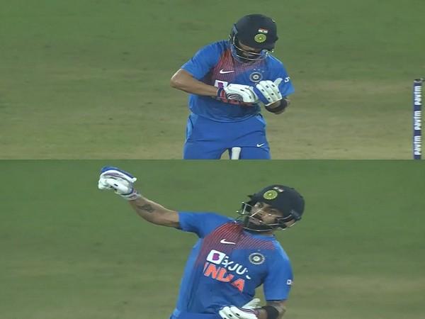 Virat Kohli during first T20I against West Indies (Photo/ Amitabh Bachchan Twitter)