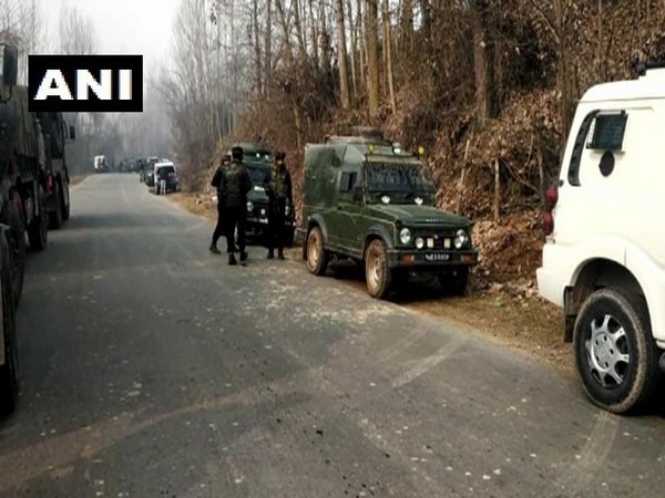 Security forces in Baramulla district of Jammu and Kashmir on Saturday.
