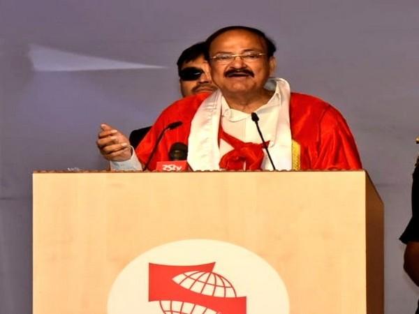 Vice President Venkaiah Nadu addresses a college function in Pune [Photo/ANI]