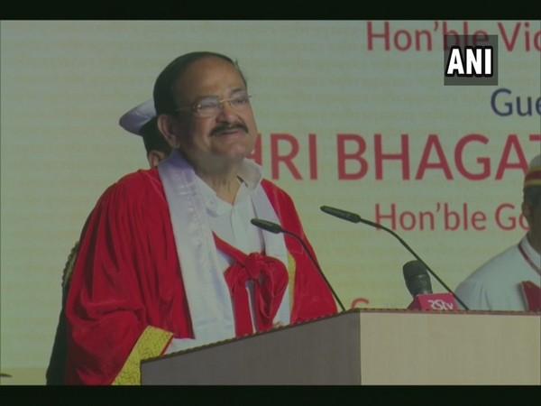 Vice President M Venkaiah Naidu addressing a convocation in Pune on Sunday. Photo/ANI
