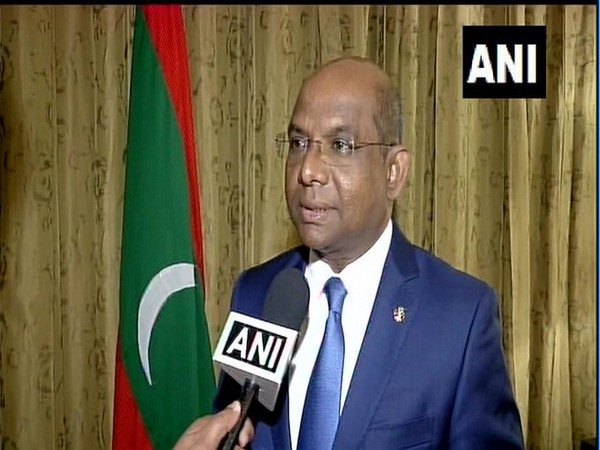 Maldives Foreign Minister Abdulla Shahid speaking to ANI on Wednesday. Photo/ANI