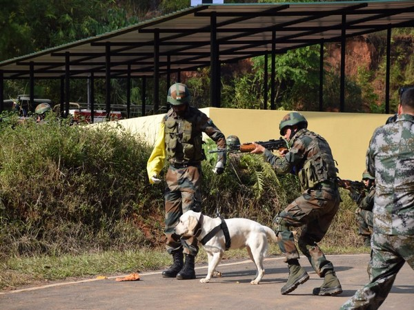 Meghalaya: India-China Hand-in-Hand exercise is underway in Shillong.