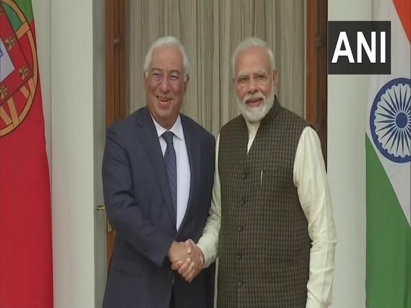 Prime Minister Narendra Modi with his Portugal counterpart Antonio Costa