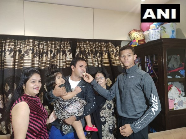 Yashasvi Jaiswal celebrates with family after getting picked by RR