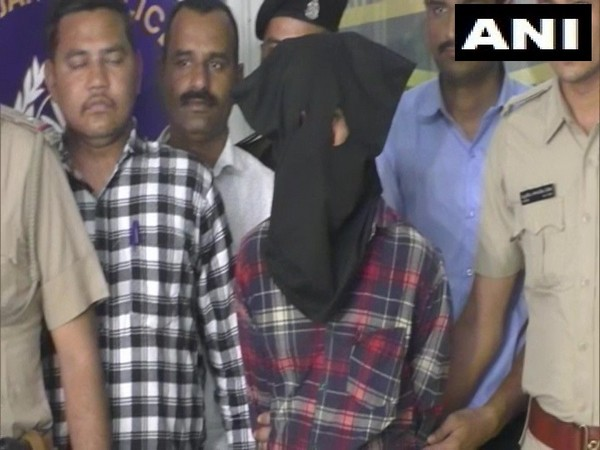 The accused in custody of Gujarat Police on Friday.