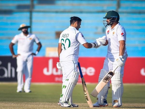Pakistan's Abid Ali and Azhar Ali in action against Sri Lanka (Photo/ PCB Twitter)