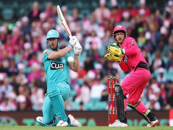 Brisbane's Chris Lynn in action against Sydney Sixers (Photo/ Brisbane Heat Twitter)