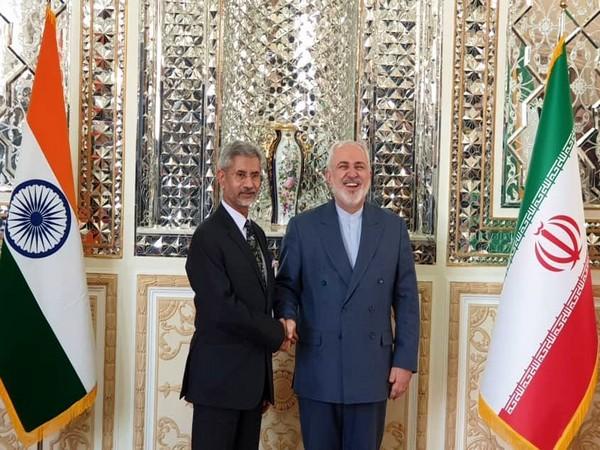 India's External Affairs Minister S Jaishankar and his Iranian counterpart Mohammad Javad Zarif in Tehran on Sunday.