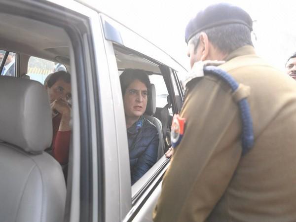 Congress leaders Rahul and Priyanka Gandhi Vadra in UP on Tuesday. Photo/ANI