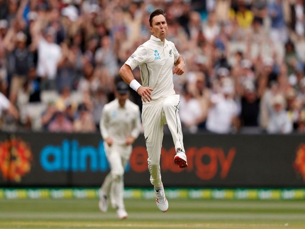 New Zealand pacer Trent Boult in action against Australia at MCG on Thursday. (Photo/ ICC Twitter)