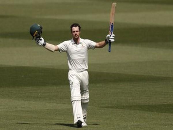 Australia's Travis Head celebrates after scoring century against New Zealand (Photo/ cricket.com.au Twitter)