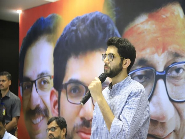Shiv Sena leader Aditya Thackeray. Photo/Twitter@ShivSena