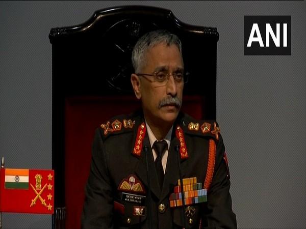 Army Chief General Manoj Mukund Naravane speaking to media on Saturday