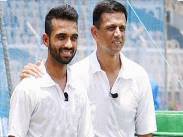 Ajinkya Rahane with Rahul Dravid (Photo/ Ajinkya Rahane Twitter)