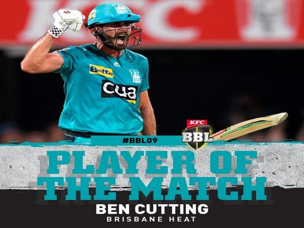Brisbane Heat's Ben Cutting (Image: BBL's Twitter)