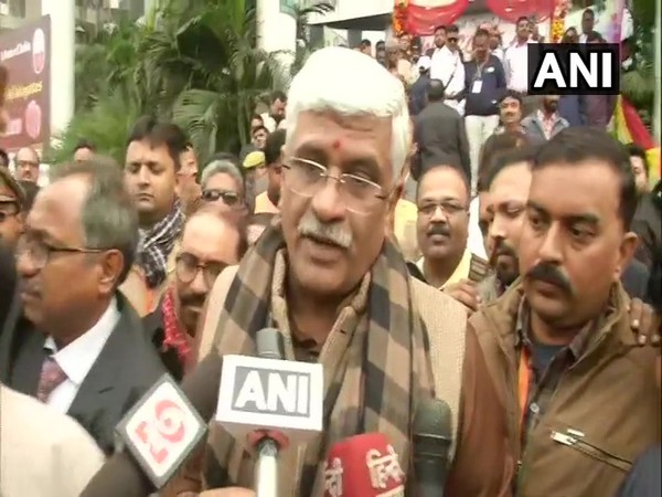Union Minister Gajendra Shekhawat talking to reporters in Lucknow, UP on Thursday. Photo/ANI
