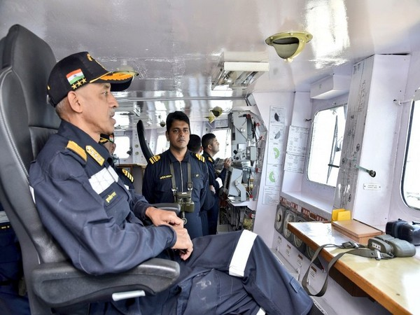 Deputy Chief of Naval Staff, MS Pawar. (Photo tweeted by Indian Navy)