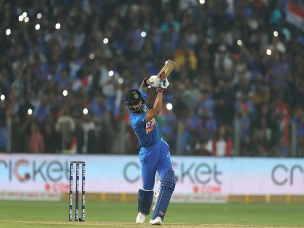 Skipper Virat Kohli in action against Sri Lanka (Photo/ BCCI Twitter)
