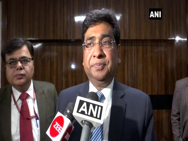 Railway Board Chairman Vinod Kumar Yadav talking to reporters in New Delhi on Monday. Photo/ANI