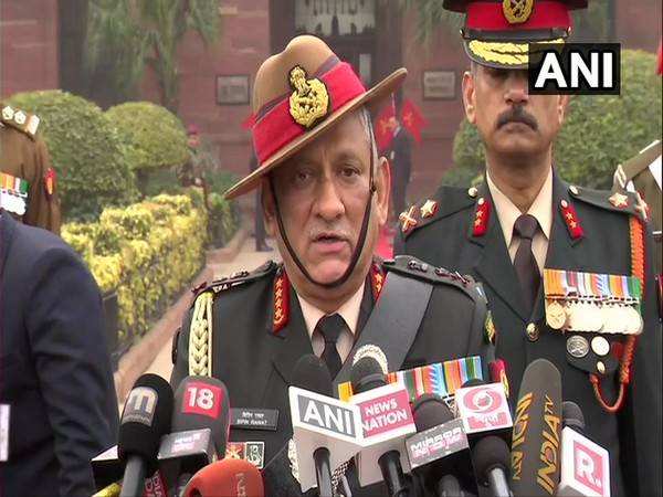 Chief of the Defence Staff (CDS) Bipin Rawat speaking to reporters on Tuesday. Photo/ANI
