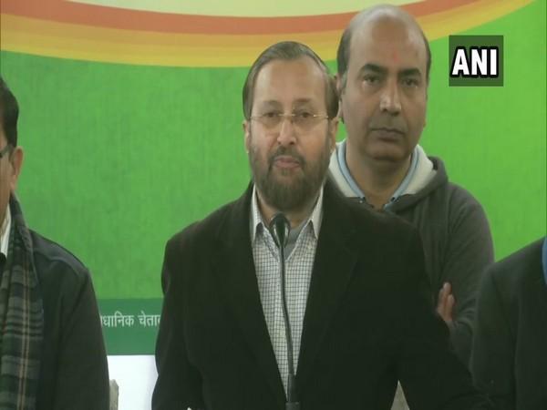 Prakash Javadekar addresses a press conference in New Delhi on Wednesday [Photo/ANI]
