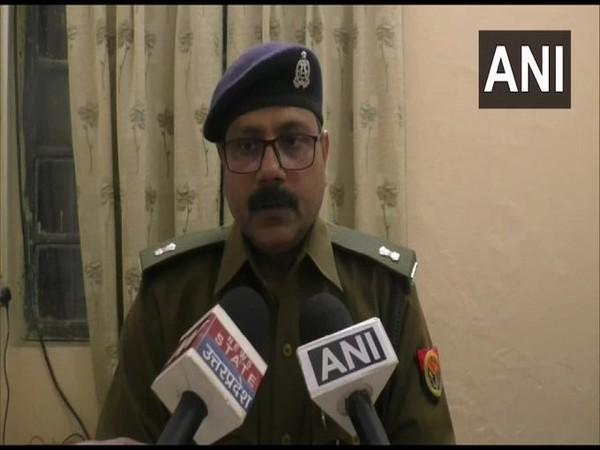 ASP Madhuban Singh talking to reporters in Sitapur, Uttar Pradesh on Wednesday.