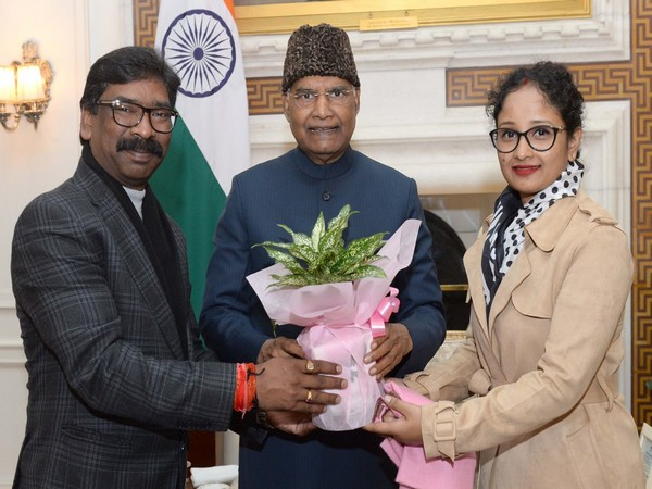 Jharkhand Chief Minister called on President Ram Nath Kovind on Friday. (Photo credits: Rashtrapati Bhavan)