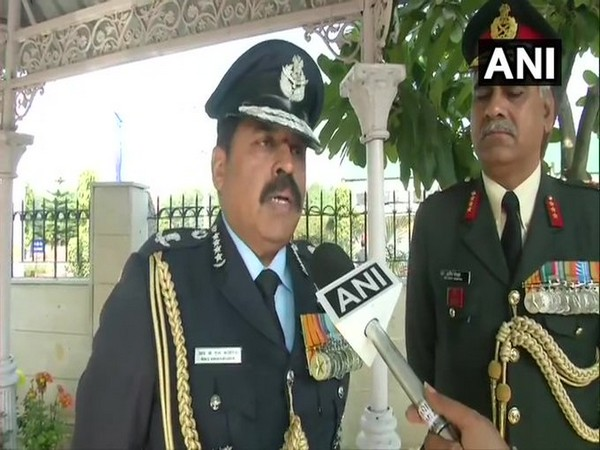 Indian Air Force Chief Air Chief Marshal RKS Bhadauria speaks to ANI in New Delhi [Photo/ANI]
